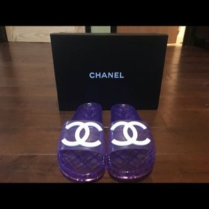 Chanel Jelly Slides Purple Size 9 & 10 Available